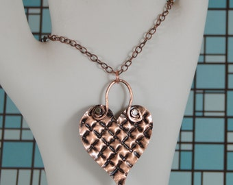 Pendant Necklace - Copper Heart