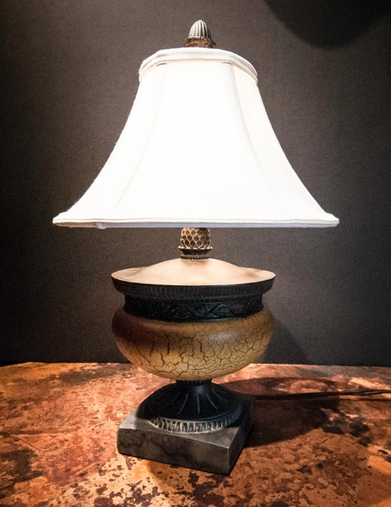 Small Faux Finished Crackle Lamp