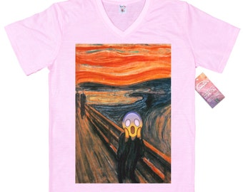 The Scream T shirt Design, Edvard Munch Emoji Painting