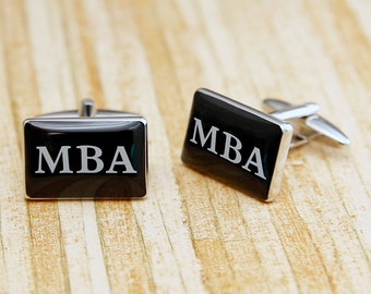 MBA Cufflinks Masters Business Financial Entrepreneur School