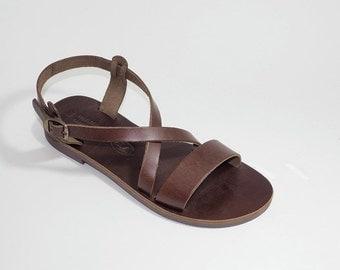 Greek Leather Sandals (40 - Brown)