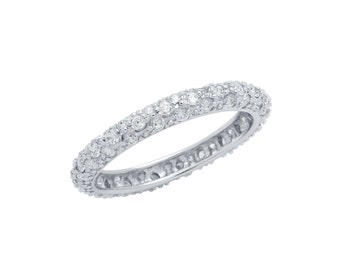 Eternity band ring. Band ring. Sterling silver band ring. Cz band ring. Silver rings. Wedding ring. Engagement ring. Wedding band ring.
