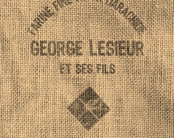 Vintage Look French Grain Sack Image Transfer - Digital Download 8 1/2 x 11 in