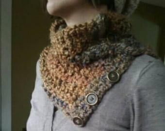 Beautiful home spun crochet  neck warmer