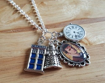 Doctor Who, David Tennant, handmade charm necklace