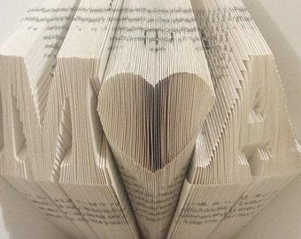 Gevouwen boek Art Gifts Anniversary Gifts, 1e bruiloft verjaardag, huwelijkscadeau, eerste verjaardag, gepersonaliseerde geschenken, vriend vriendin cadeau