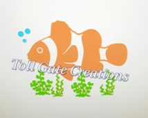 Nemo Clown Fish Cameo Silhouette DIGITAL FILE for BEACH spiker