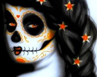 Eli Art Print - Airbrushed Sugar Skull