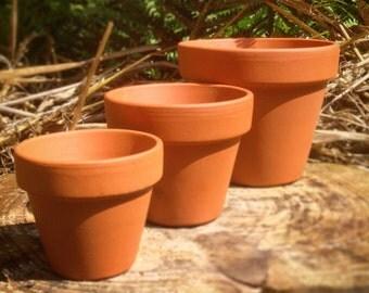 Extra Large Vintage Style Terracotta Plant Pots, 1~50 pcs