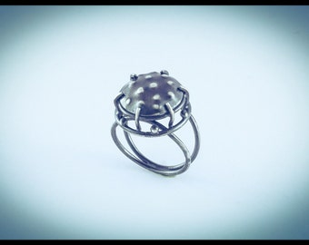 Micro-Organism Silver Ring 1