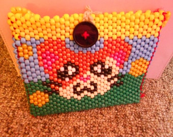 Beaded Hamtaro purse