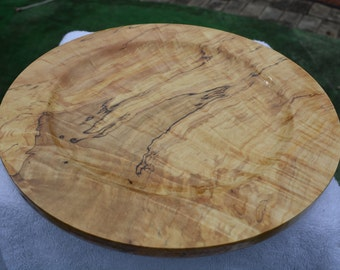 Amazing Handmade Spalted Curly Maple Platter