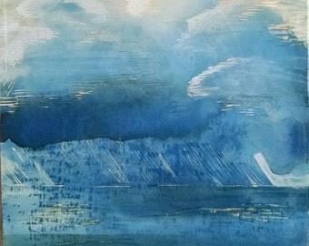 Stormy Seas Clayboard Painting