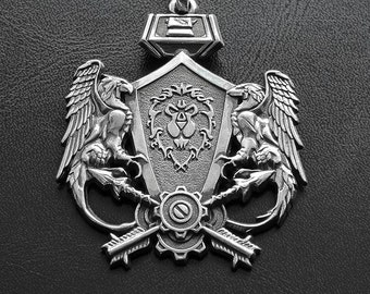 The Alliance medallion inspired by World of Warcraft game