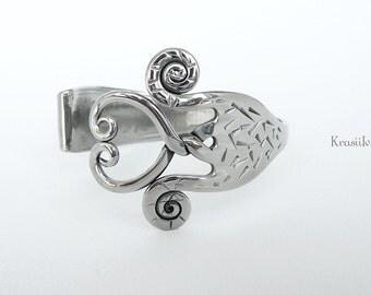 Silverware Jewelry, Fork bracelet, Recycled jewelry, Heart design, Fork jewelry, Silverware bracelet, Eco friendly gift