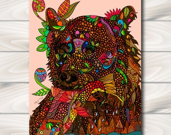 Grizzly Instant download print home decoration wall wall decor home and living home decor.