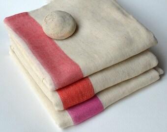 3 Linen Turkish Towel - Turkish Towel Set / Beach Blanket / Beach Accessories / Beach Towel / Turkish Beach Towel / Surfing Accessories