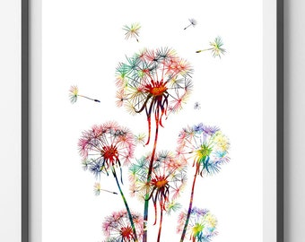 Dandelions digital print 3 printable dandelions Flowers Instant Download Dandelions digital poster vertical downloadable dandelions 3 print