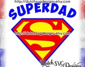 Cutting file Superdad, in Jpg Png Studio3 SVG EPS DXF, Cricut & Silhouette, dad svg, daddy svg, fathers day svg, superdad svg, father svg