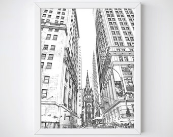 Sketches of New York, New York Wall Art, New York Art, New York Decor, New York City SKyline, New York Print