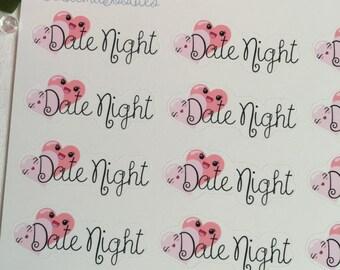 Kawaii Date Night Stickers :