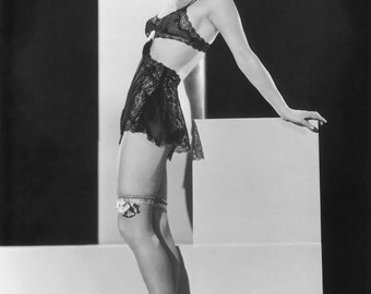 Ginger Rogers Lingerie Pinup Girl Poster Art Photo Artwork 11x14  16x20 or 20x24