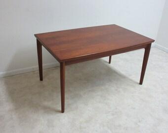 Vintage Danish Modern Teak Refractory Dining Room Banquet Table
