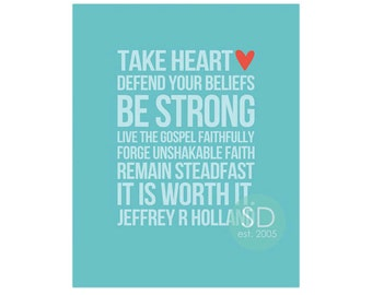 YW Take Heart Quotes/Card - BB