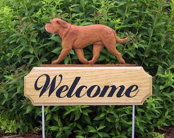 Dogue de Bordeaux Welcome Garden Stake