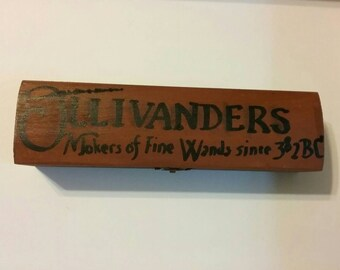 Harry Potter Ollivander's Wand box - handpainted - empty