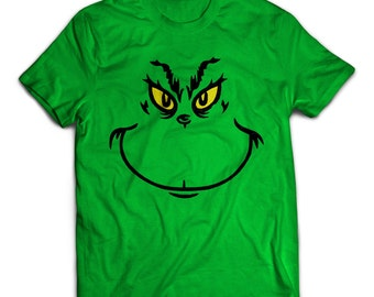 Grinch T-Shirt, Christmas Shirt, Dr. Suess, The Grinch, Mr. Grinch, Holiday Clothes, Adult T-Shirt, Great Gift