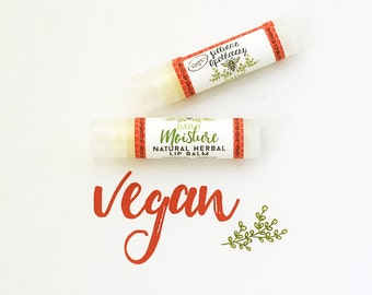 VEGAN Herbal Natural Lip Balm