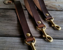 Leather Lanyard,Leather Wrist keychain, Solid Brass, Wrist Lanyard, Key Chain, leather key loop, leather key lanyard by Jericho Leather