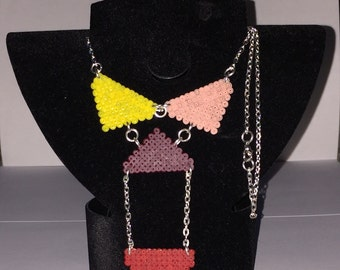Hama Beads-necklace geometric subject Line Eclectic