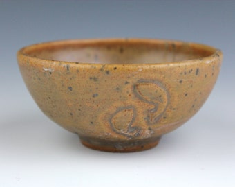 gold bowl No.2, Koi fish, Wheel-Throuwn and carved