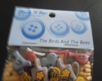 birds and bees buttons