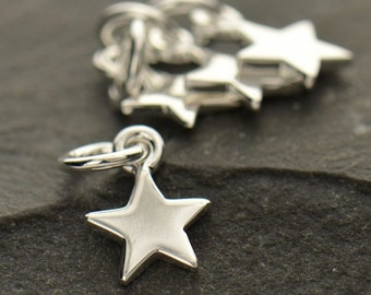 Tiny Star Charm 925 Sterling Silver Small Pendant for Necklace Women