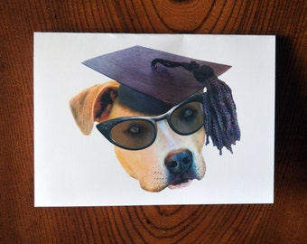 Graduate Dog Printable Graduation Card