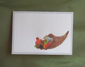 Squirrel Cornucopia Printable Place Cards or Gift Tags