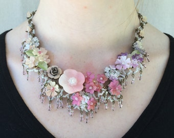 SUMMER BREEZE STATEMENT Necklace, Vintage Inspired and Designed by Colleen Toland