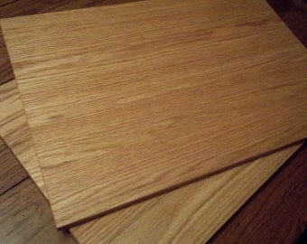 """Two Huge Cutting Boards--One Price-Extra Large OAK 17x25"""" face grain Cutting Boards 25/32"""" thick.  Two boards for one price."""