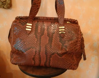 genuine Python handbag brand tuscan