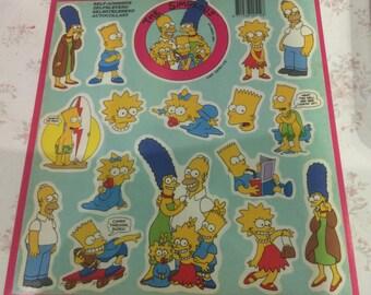The Simpsons Stickers-TM&C-1990