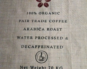 Custom burlap coffee sack fabric, 1 yard piece in NATURAL