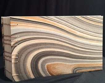Marbled Coptic Bound Journal