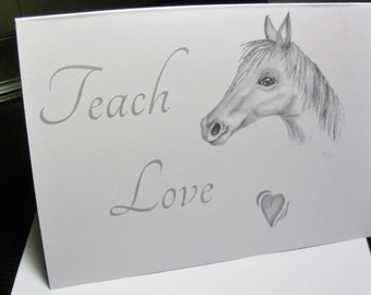 Greeting Card 6 pc sets - Horse Greeting Card - Horse Note Card - Blank Note Cards / Art / Blank Cards  TLN 7