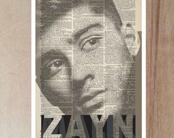Zayn Malik 1 Direction art print poster Gift