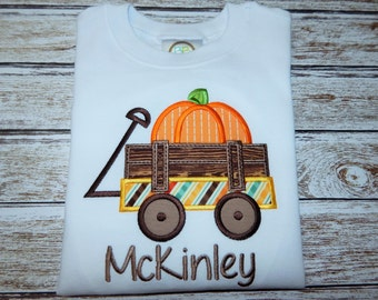 Boy's FALL shirt;  Boy's pumpkin shirt; Boy's Thanksgiving shirt; SHIPS 3-5 days