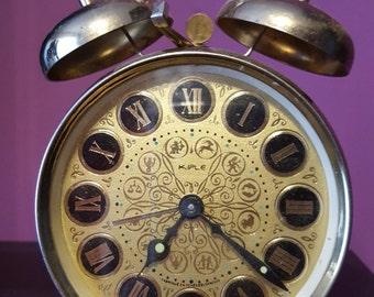 Vintage 1970's Mechanical Alarm Clock.Brand:KIPLE - CZECHOSLOVAKIA.