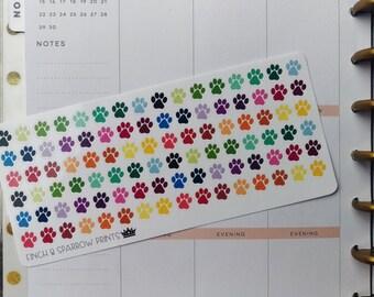 Paw Print Stickers